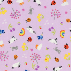 Lilac spring fabric with...
