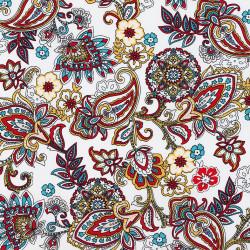 Paisley print fabric Color...