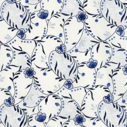 Delfts blauwe bloemen stof