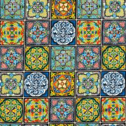 Mandala tiles fabric