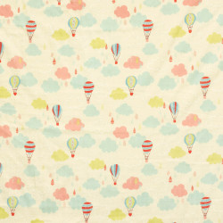 Balloons and clouds fabric
