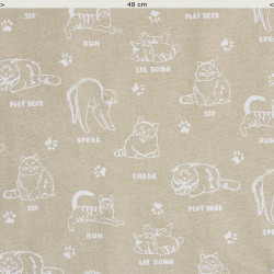 Canvas Cat fabric
