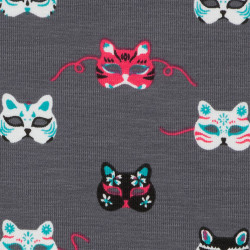 Cat mask fabric, jersey