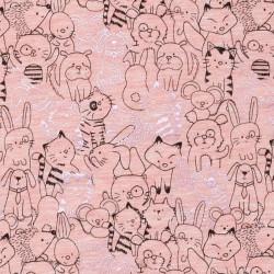 Animal fabric pink
