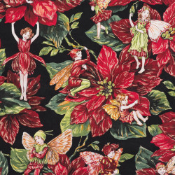 Holiday fairies fabric