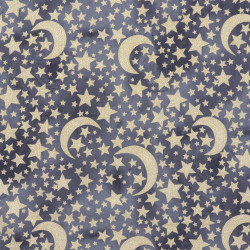 Moon and Stars fabric Gold