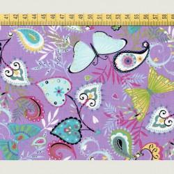 Butterfly fabric purple