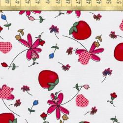 Strawberry fabric grey