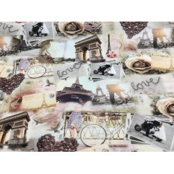 Paris romance fabric (canvas)
