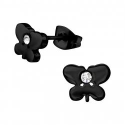 Butterfly earring black