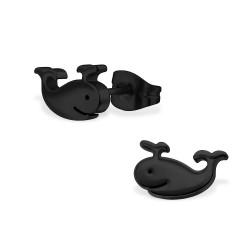 Whale earring black
