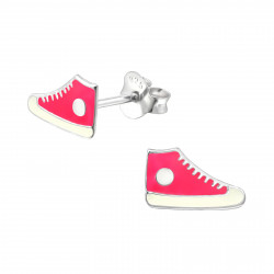 Sneaker earrings pink