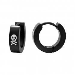 Skull earrings black