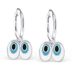Cartoon eyes earrings