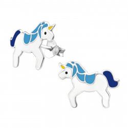 Unicorn earrings blue