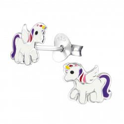 Flying unicorn earrings