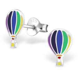 Hot air balloon earrings