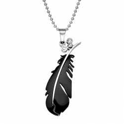 Stainless steel feather...