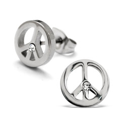 Stainless steel peace sign...