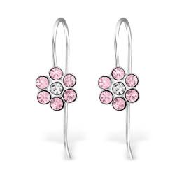 Flower ear hooks pink