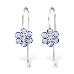 Flower earhooks lilac