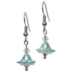 Bellflower earring aqua