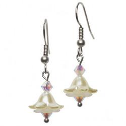 Bellflower earring ivory