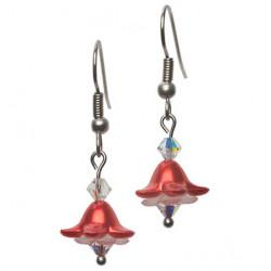 Bellflower earring raspberry