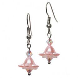 Bellflower earring peach