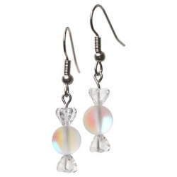 Candy earrings white