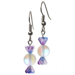 Candy earrings lilac