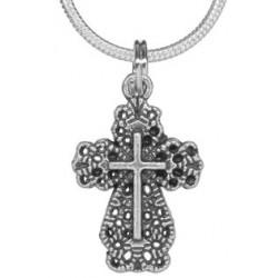 Filigree cross on chain