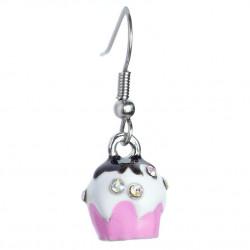 Cupcake earrings pink