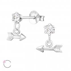 Crystal earrings with arrow