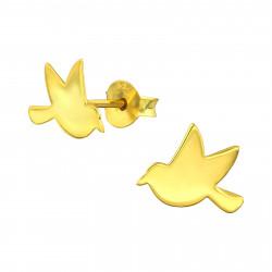 Bird earrings gold