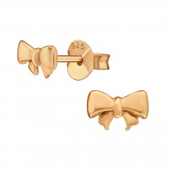 Ear studs bow Rose gold