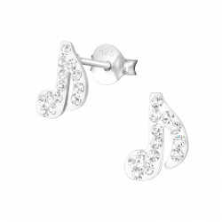 Musical note earrings with...